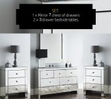 Bedroom Furniture Mirrored Cabinet with 2+1+1 Drawers