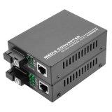 10/100/1000 Mbps RJ45 Dual Fiber Single Mode Optical Fiber Media Converter