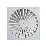 HVAC Ceiling Square Rotary Air Diffuser Air Outlet Vent Cover