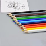 Art Paints Stationery Glossy Bright Hexagonal 7 Inch 12 PCS Soft Leads Color Pencil in Paper Box with Customized Logo