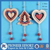 Wooden Heart and Mini-Tree with Jingle Bell for Christmas Trees and Decorations
