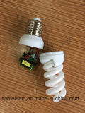 100% Tri-Phosphor 9mm Small Full Spiral 220V Energy Saving Lamp (CE&RoHS)