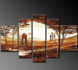Hand-Painted Modern Canvas African Art Paintings (AR-072)
