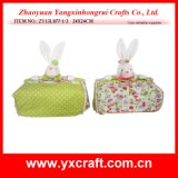 Easter Decoration (ZY13L877-1-2 24X24CM) Easter Home Decoration Tissue Packaging Box