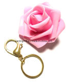 Flat Split Key Chain Ring with Lobster Claw Clasp Key Attachment