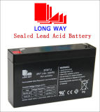 6V7.2ah Maintenance Free Rechargeable Solar Battery with Longer Service Life