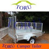 8X5 Galvanized Cage Trailer, Box Trailer