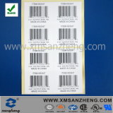 Custom Clear Glossy Self Adhesive Rain Resistant Cmyk Barcode Labels