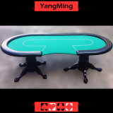Casino Texas Holdem Poker Table with Factory Price and Dedicated 10 Players Casino Table Layout of Tiger Legs (YM-BA11-1)