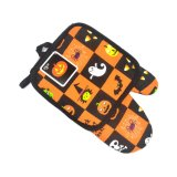Pumpkin Printed Cotton Kitchen Heat Resistant Potholder Oven Mitts