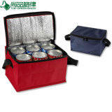 Promotional Custom Polyester Six-Pack Insulated Cans Cooler Carry Bag