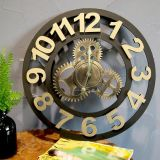 Metal Mechanics Gear Wall Clock for Home and Club Decoration