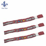 Custom Promotion Festival Fabric Wristband with Sample Free