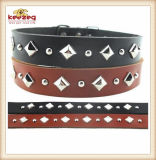 Quality Pet Real Leather Pet Collars/for Small Big Dog (KC0132)