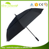 30 Inch Black Auto Open Double Layer Big Golf Umbrella with Logo Custom