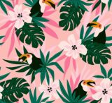 Custom Tropical Flower Design Lycra Spandex 4 Way Stretch Fabric for Swimwear