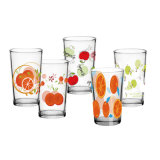 Classic Cheap Clear Juice Drinking Glass Tumbler Water Decal Printing Cup (107/108V)