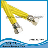 S/S Corrugated Flexible Gas Hose with Yellow PVC (H02-103)