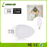 USA Market Milky White 6W E12 E14 Dimmable LED Candle Bulb with Ce RoHS UL