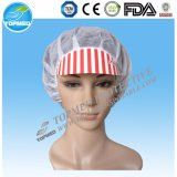"Disposable Nonwoven 21"" Worker Cap or Bouffant Cap"