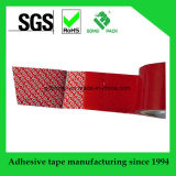 Tamper Evident Security Packing Tape Roll White/Red