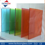 6.76mm Dark /French Green PVB Laminated Toughened Glass with Ce&ISO9001