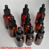 60ml Pet PE Plastic Dropper Bottle for Eliquid E-Cig E-Oil with Plastic Dropper or Glass Dropper