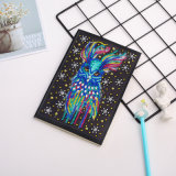 Feathered Owl 5D DIY Diamond Notebook Cartoon Longdiamond Embroidery Art Special Shaped Diamond Mosaic Bird Notebook