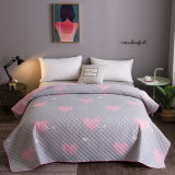 Nantong Home Textile Supllier Wholesale Microfiber Ultrasonic Heat Embossed Home Bedspread Summer Quilt Blanket