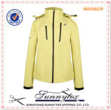 Womens Design Winter Padded Fleece Fabric Hood Jacket