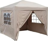 2.5X2.5mtr Pop up Waterproof Gazebo with 2 Windbars and 4 Leg Weight Bags