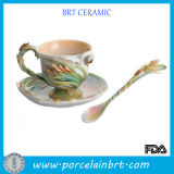 Innovation and Attractive Porcelain Tea Cup with Saucer