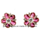 Flower Shape China Supplier 925 Silver High Quality Earring (E6222)