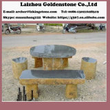 Basalt Park Table and Chair Stone Garden Table Set