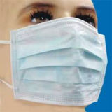 Disposable 3-Ply Medical Face Mask with Earloop, Safety Apparel