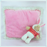 Pink Cushion with a Cute Rabbit Plush Pillow