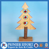 Wooden Mini-Tree with Jingle Bell for Christmas Tabletop Decoration
