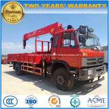 Dongfeng LHD 6 Wheels Truck Mounted with 5 T Boom Crane for Sale