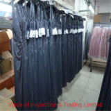 Blue Fancy Beading Dress QC Quality Check/ Final Random Inspection for Mature Sexy Evening Dress in Panyu Factory