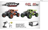 1: 16 High-Speed R/C Car (PVC) Included Battery