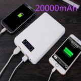 ABS Cover Mobile Charger 20000mAh Dual USB Power Bank with LCD