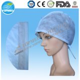 Hot Sale! Disposable Non Woven Surgical Cap with Tie on