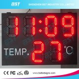 Indoor/ Outdoor High Brightness Waterproof LED Time & Temperature Display