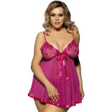 2017 Hot Sale Paypal Accepted Rose/Red/Purple Plus Size Women Sexy Lingerie