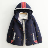 The New Winter Fox Embroidery Hooded Thickened Padded Loose Coat