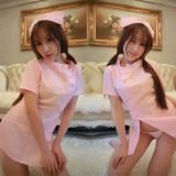 Night Club Cosplay Pink Nurse Sexy Dress Lingerie Dress