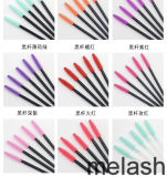 Me&Lash 2018 Best Seller Wholesale Silicone Brushes 3D Mink Eyelash Extension Colorful Mascara Wands Eyebrow Cosmetics Makeup Tools