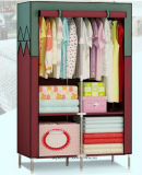 Single Fabric Canvas Clothes Storage Organiser Home Wardrobe Cupboard Shelves (FW-01)