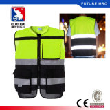 Class 2 Black Bottom High Visibility Reflective Safety Vest for Riding or Bicycling