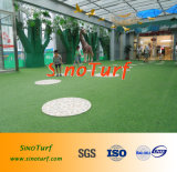 Shopping Mall Installed Fake Artificial Grass Lawn, Synthetic Turf of 25mm ~ 45mm Height Price